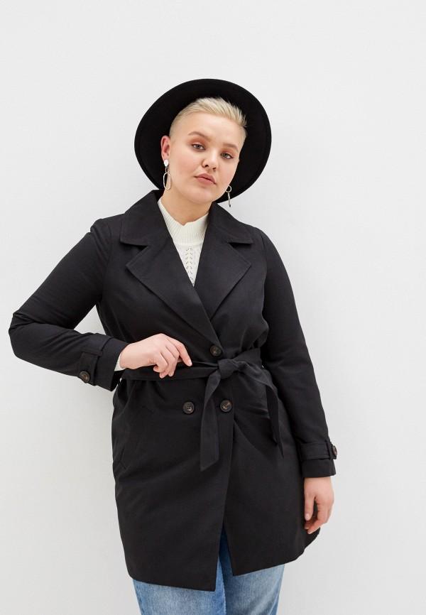 женский плащ vero moda curve, черный