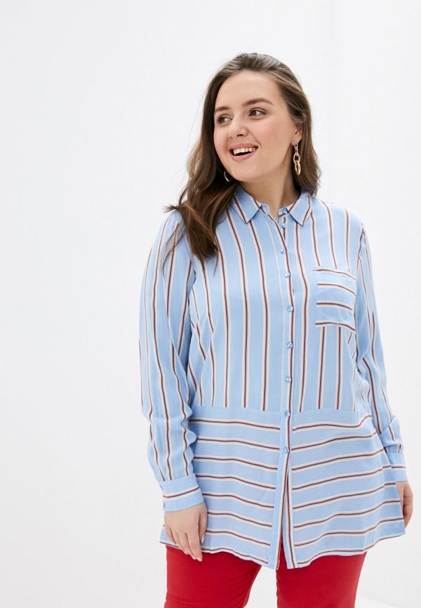 женская блузка vero moda curve, голубая