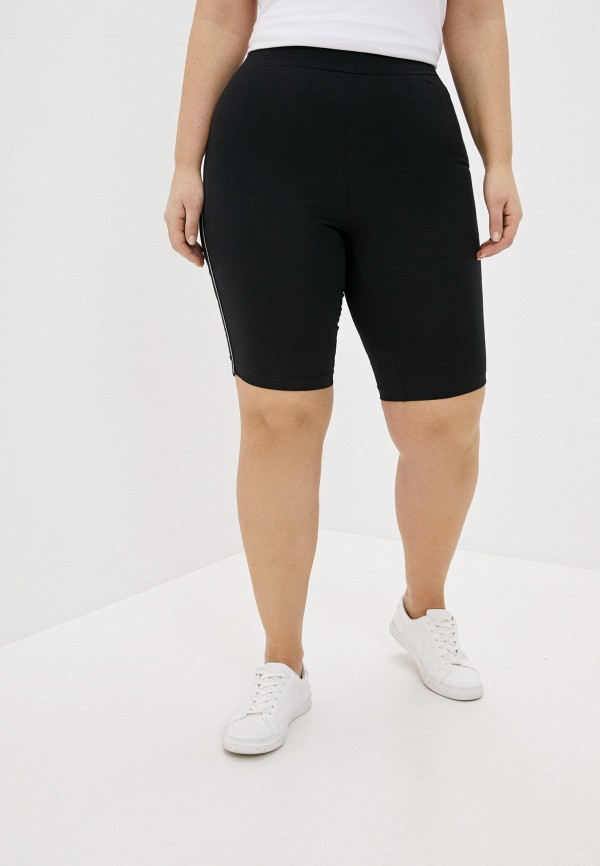 женские спортивные шорты vero moda curve, черные