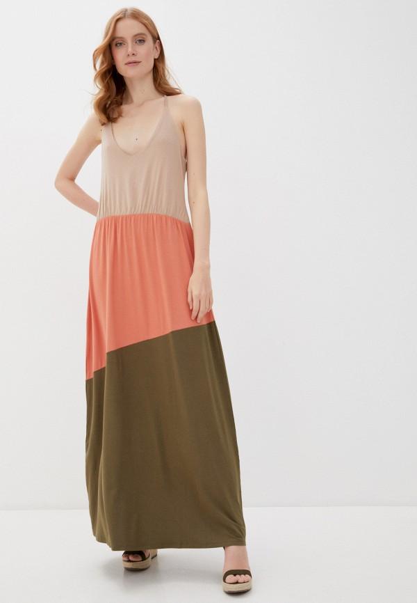 женский сарафан vero moda curve, разноцветный