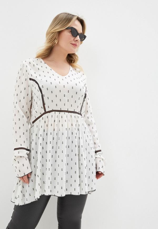 женская туника vero moda curve, белая