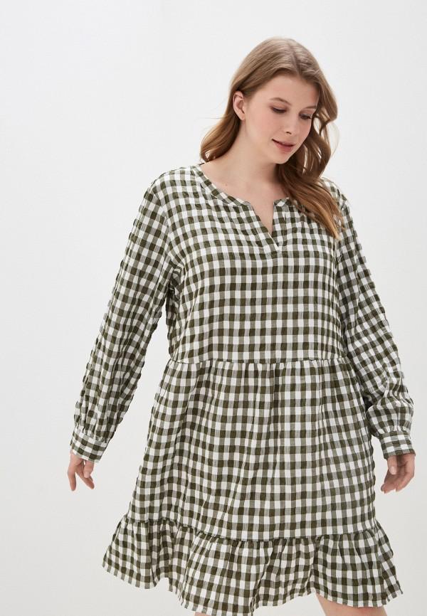 женское повседневные платье vero moda curve, хаки