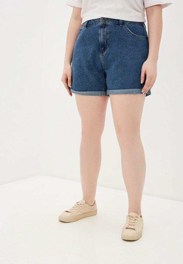 женские джинсовые шорты vero moda curve, синие