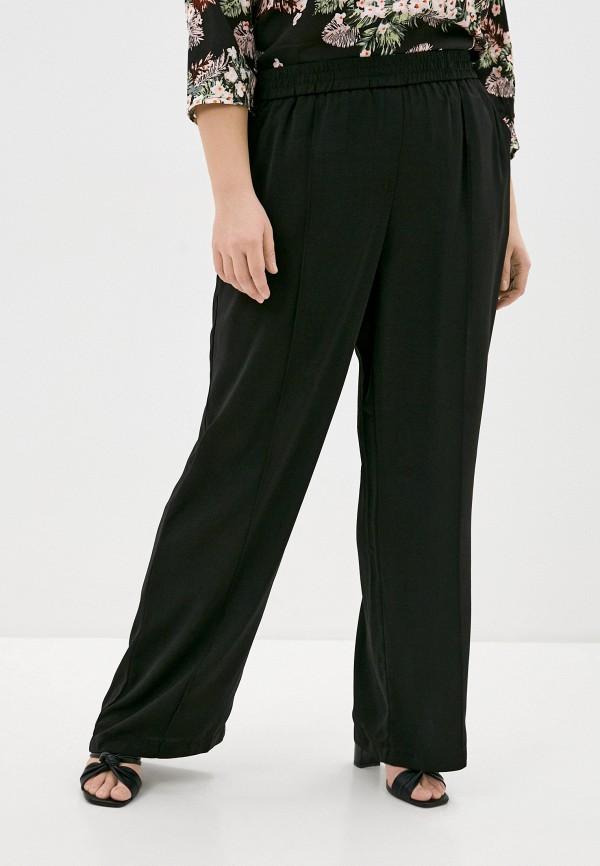 женские прямые брюки vero moda curve, черные