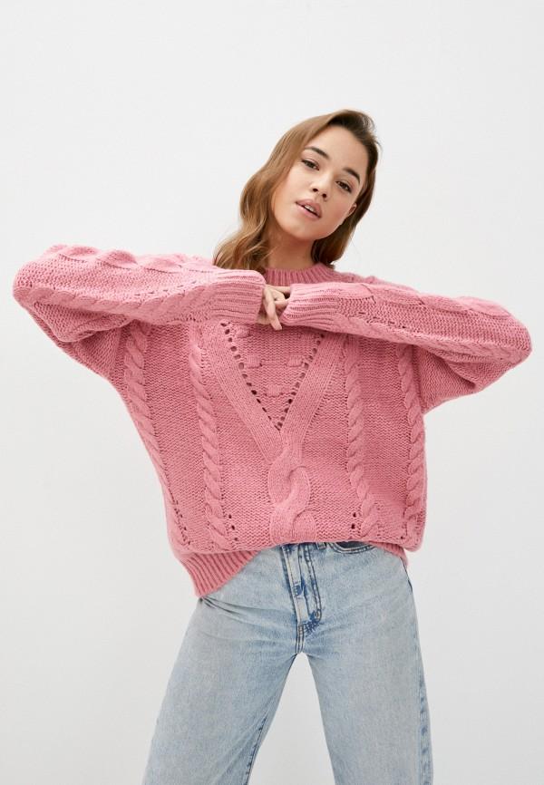 женский джемпер vero moda curve, розовый