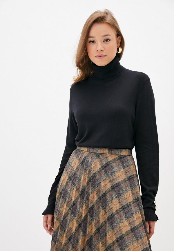 женская водолазка vero moda curve, черная
