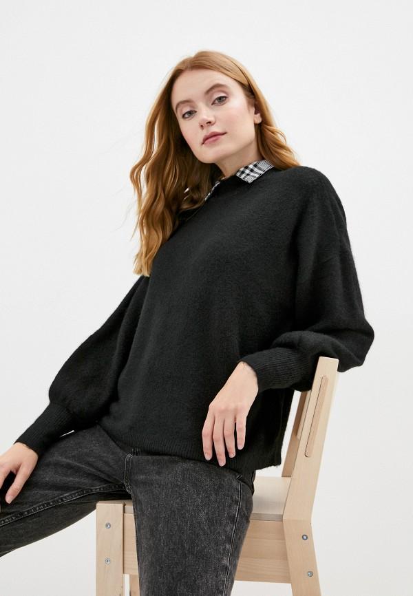 женский свитер vero moda curve, черный