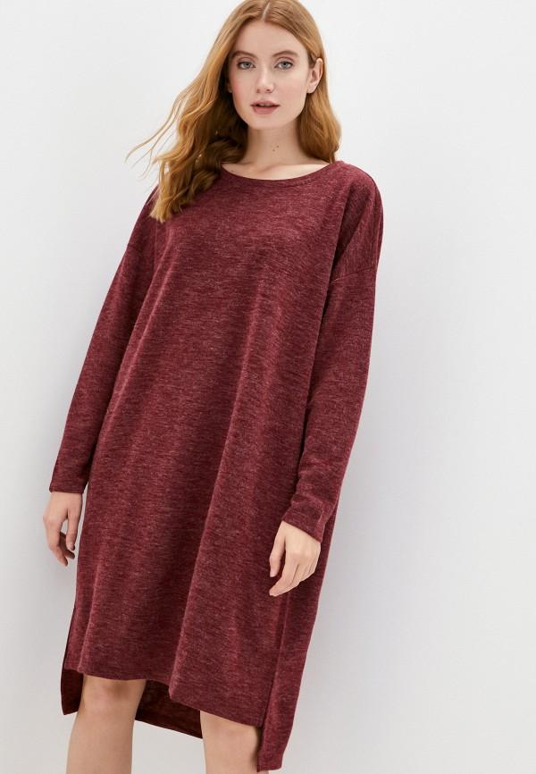 женское повседневные платье vero moda curve, бордовое