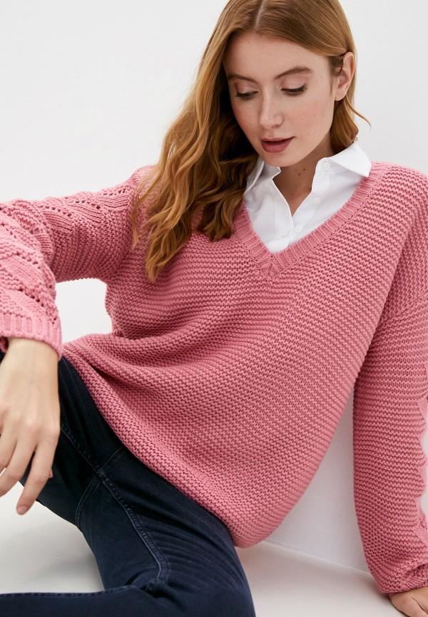 женский пуловер vero moda curve, розовый
