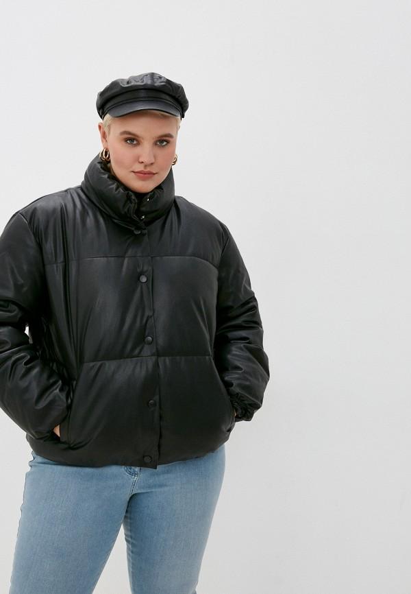женская куртка vero moda curve, черная