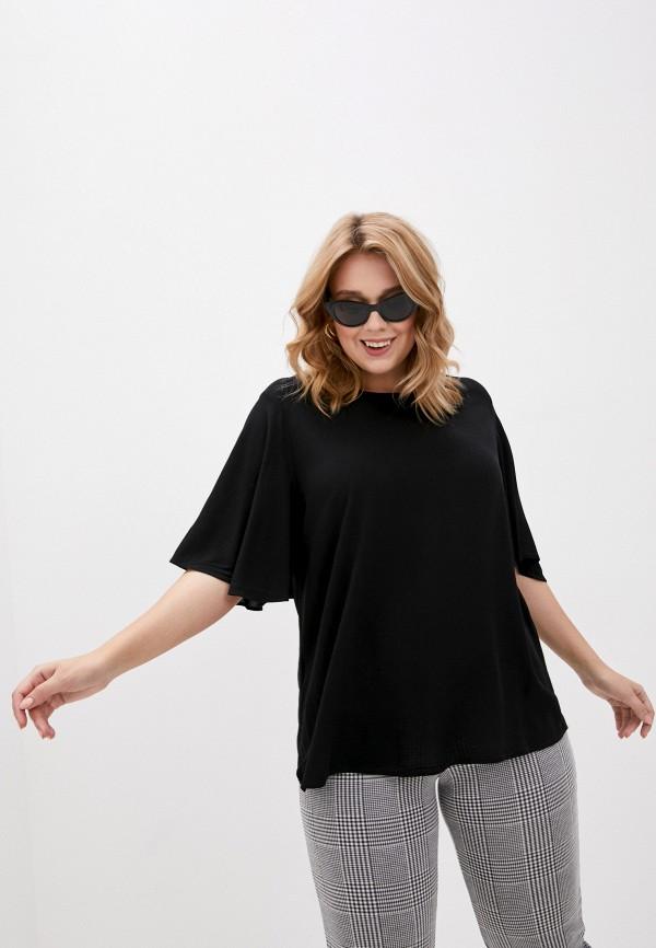 женская блузка vero moda curve, черная