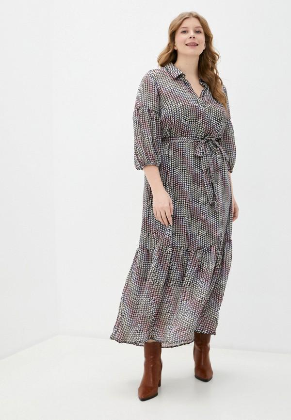 женское повседневные платье vero moda curve, разноцветное