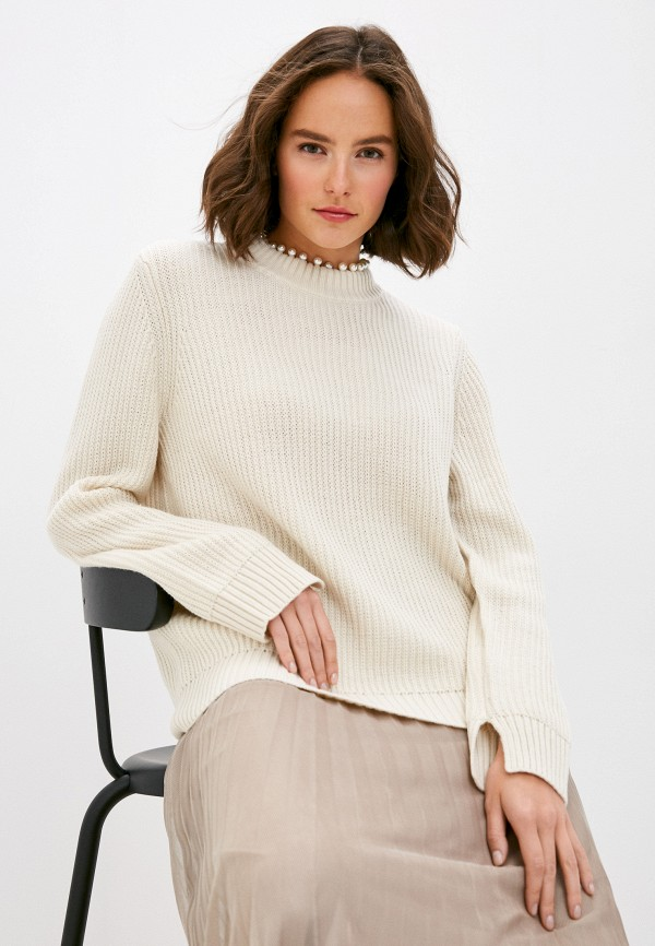 женский джемпер vero moda curve, бежевый