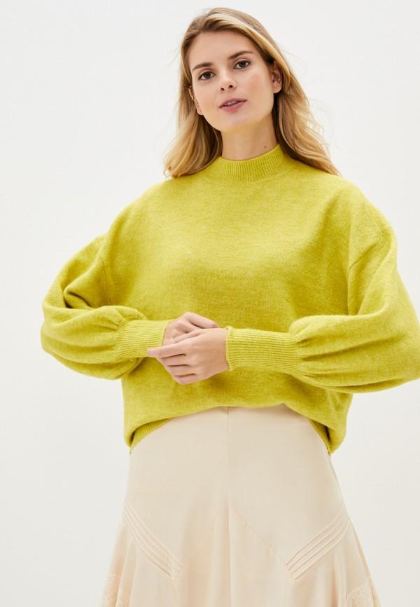 женский свитер vero moda curve, зеленый