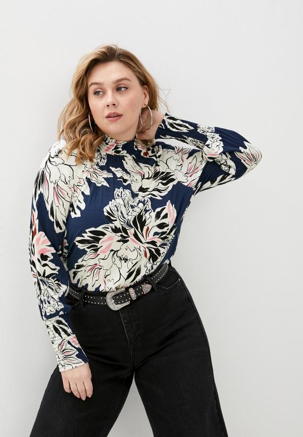 женская блузка vero moda curve, разноцветная