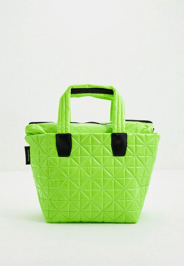 женская сумка-шоперы veecollective, зеленая