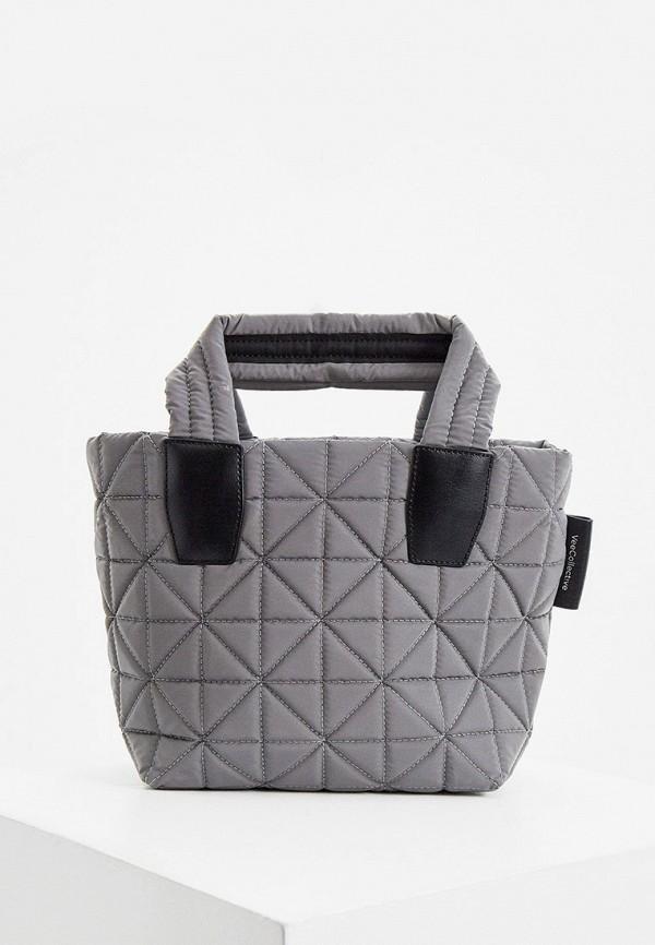 женская сумка через плечо veecollective, серебряная