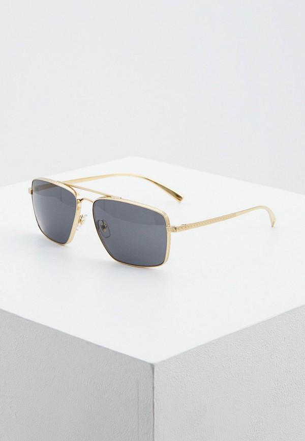 мужские квадратные солнцезащитные очки versace, золотые