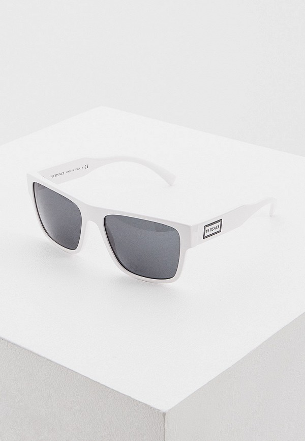 мужские квадратные солнцезащитные очки versace, белые