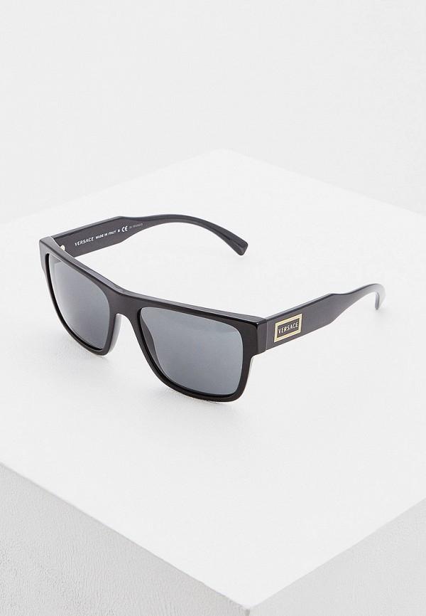 мужские квадратные солнцезащитные очки versace, черные