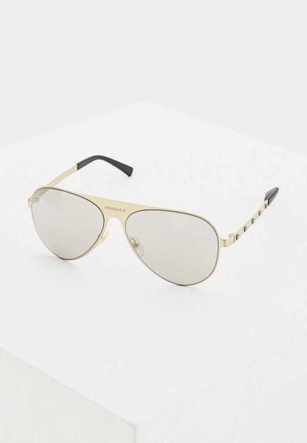 женские солнцезащитные очки versace, черные