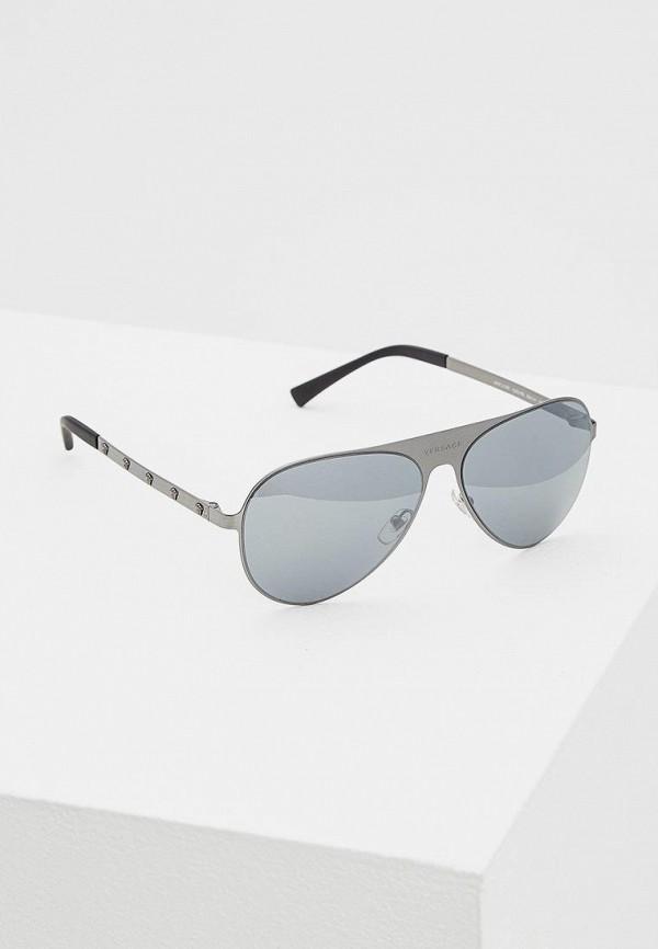 женские солнцезащитные очки versace, серые