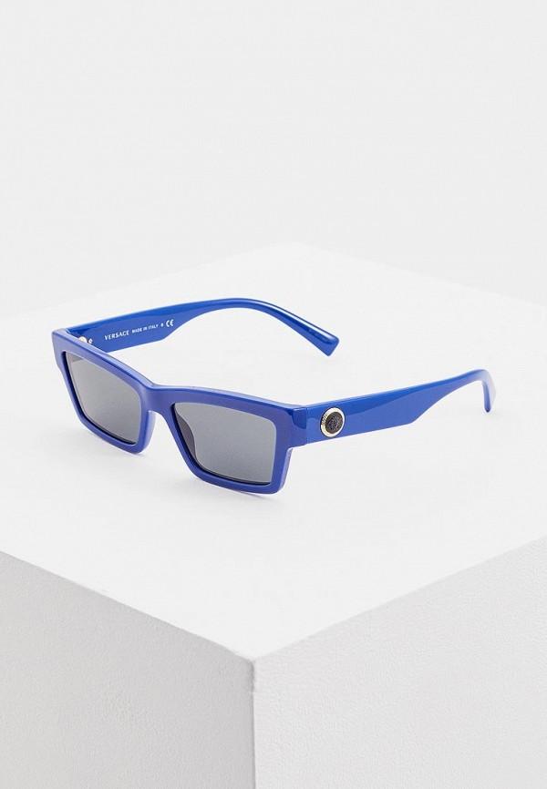 женские солнцезащитные очки versace, синие