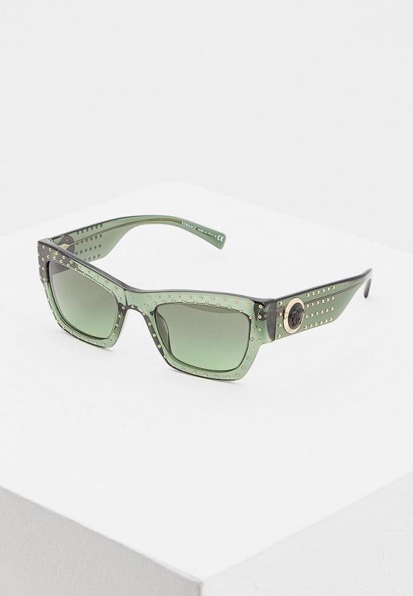 женские солнцезащитные очки versace, зеленые
