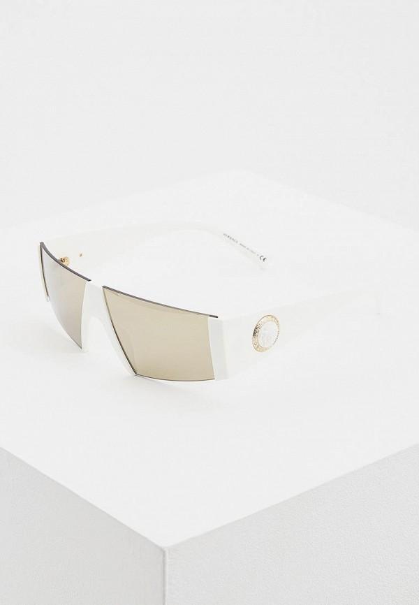 женские солнцезащитные очки versace, белые