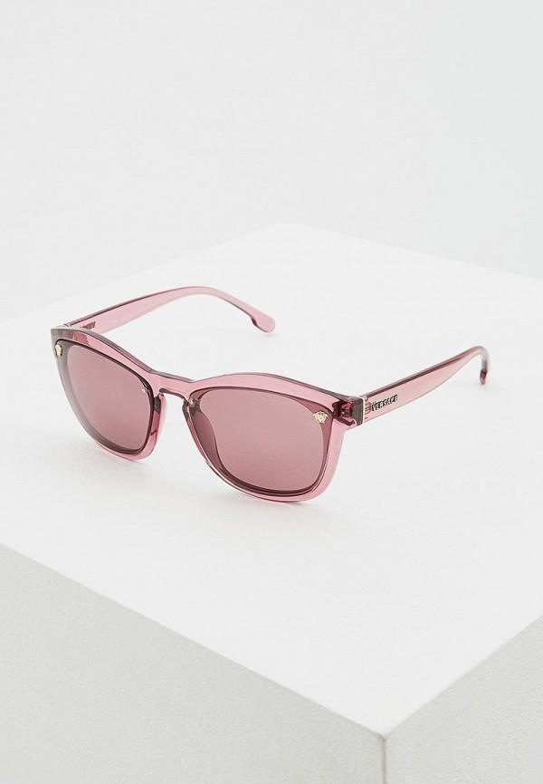 женские солнцезащитные очки versace, розовые