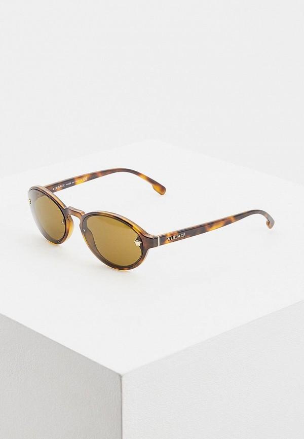 женские солнцезащитные очки versace, коричневые