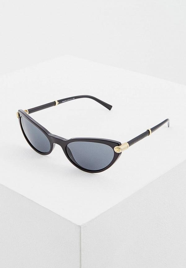 женские солнцезащитные очки кошачьи глаза versace, черные