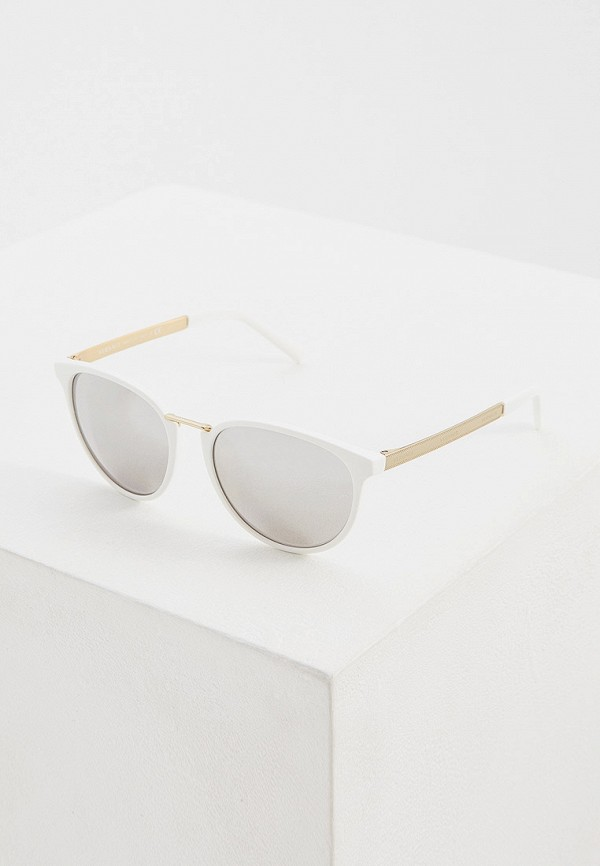 женские круглые солнцезащитные очки versace, белые