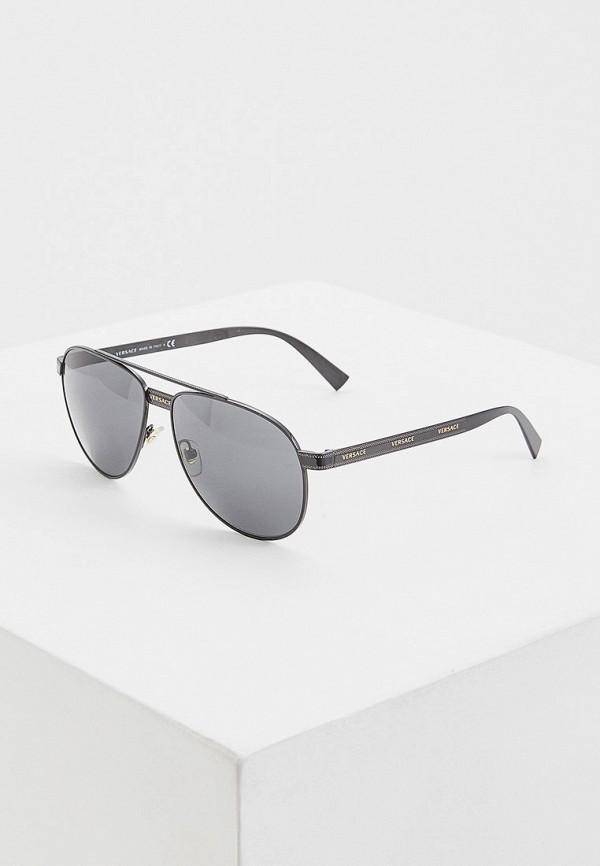 цена Очки солнцезащитные Versace Versace VE110DWFTWO6 онлайн в 2017 году