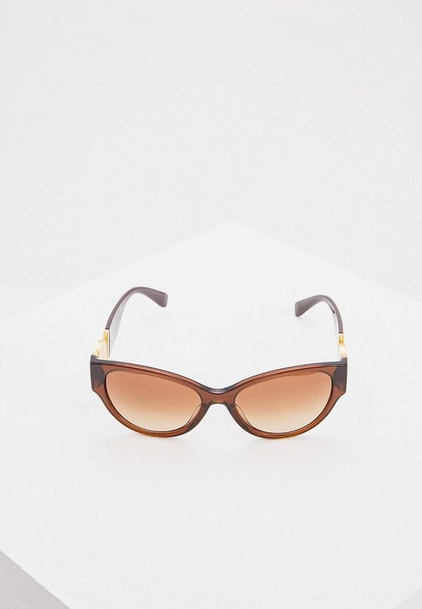 Фото 2 - Очки солнцезащитные Versace коричневого цвета