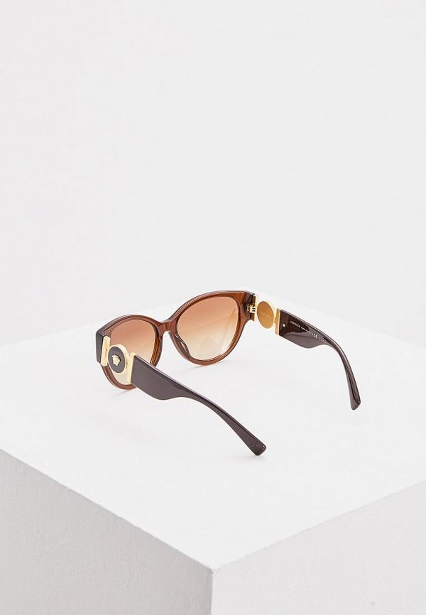 Фото 3 - Очки солнцезащитные Versace коричневого цвета