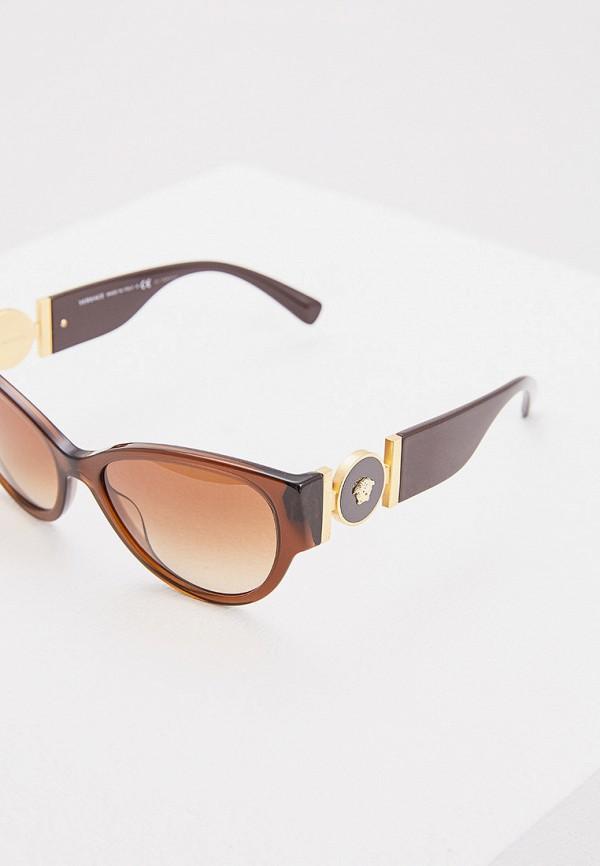 Фото 4 - Очки солнцезащитные Versace коричневого цвета