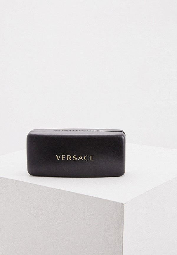 Фото 5 - Очки солнцезащитные Versace коричневого цвета