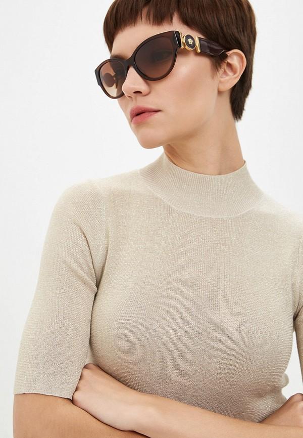 Фото 6 - Очки солнцезащитные Versace коричневого цвета