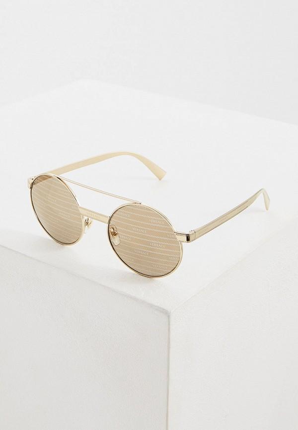 Фото - Очки солнцезащитные Versace золотого цвета