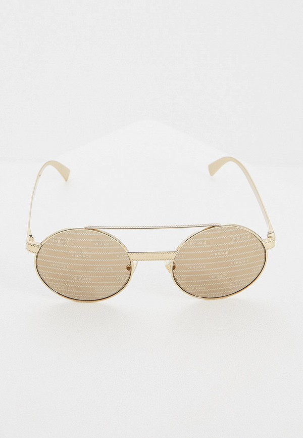 Фото 2 - Очки солнцезащитные Versace золотого цвета