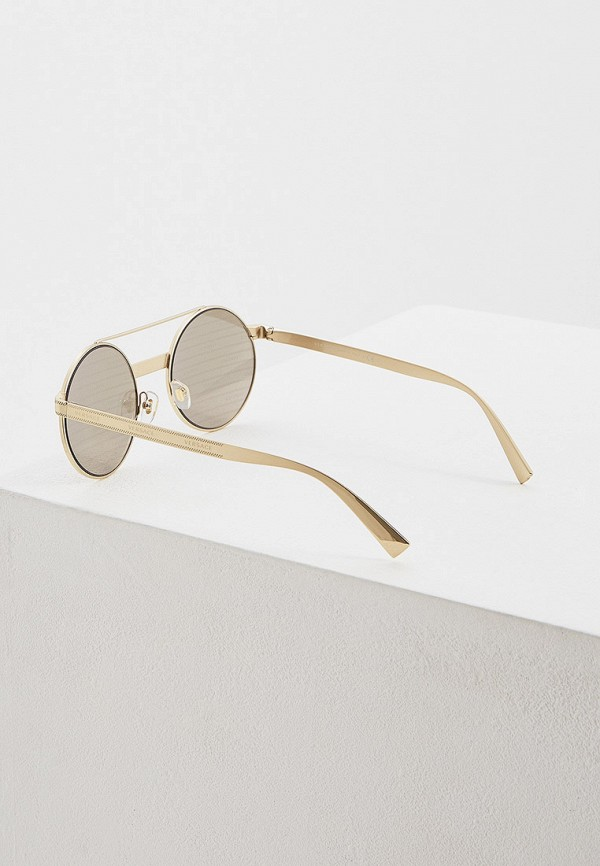 Фото 3 - Очки солнцезащитные Versace золотого цвета