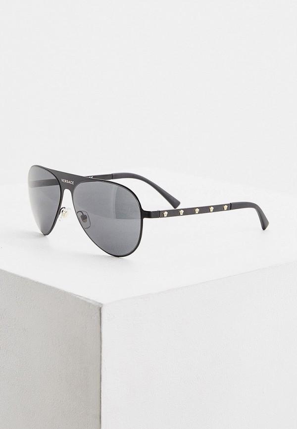 женские авиаторы солнцезащитные очки versace, черные