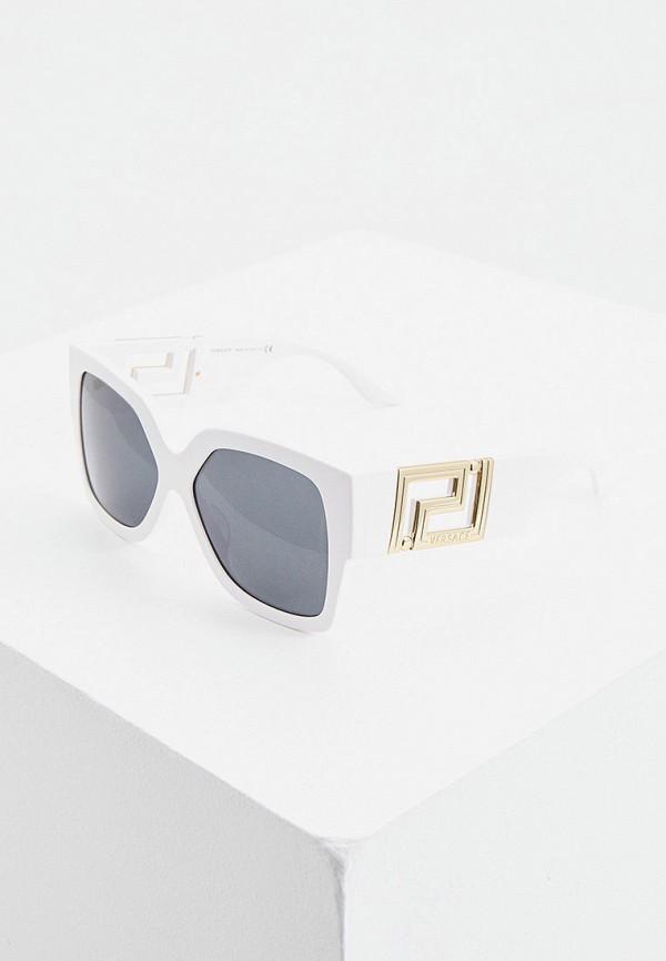 женские квадратные солнцезащитные очки versace, белые