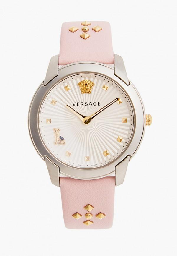 женские часы versace, розовые