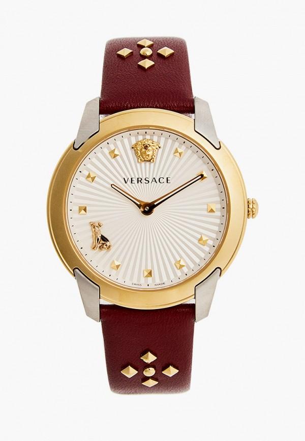 женские часы versace, бордовые