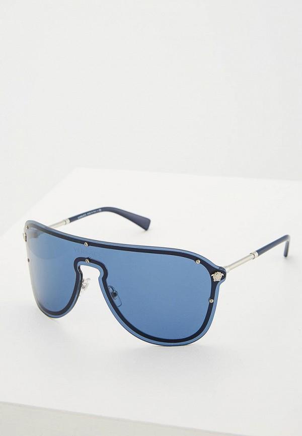 Купить Очки солнцезащитные Versace, VE2180 100080, ve110dwzay36, синий, Осень-зима 2018/2019