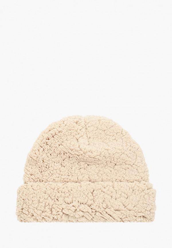 женская шапка vero moda, бежевая