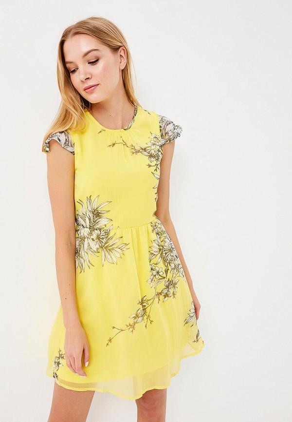 Купить Платье Vero Moda, VE389EWAFUU1, желтый, Весна-лето 2018