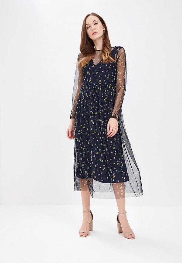 Купить Платье Vero Moda, VE389EWAFUW1, синий, Весна-лето 2018